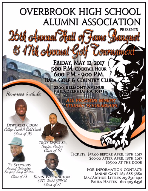 Overbrook High School Hall of Fame Banquet